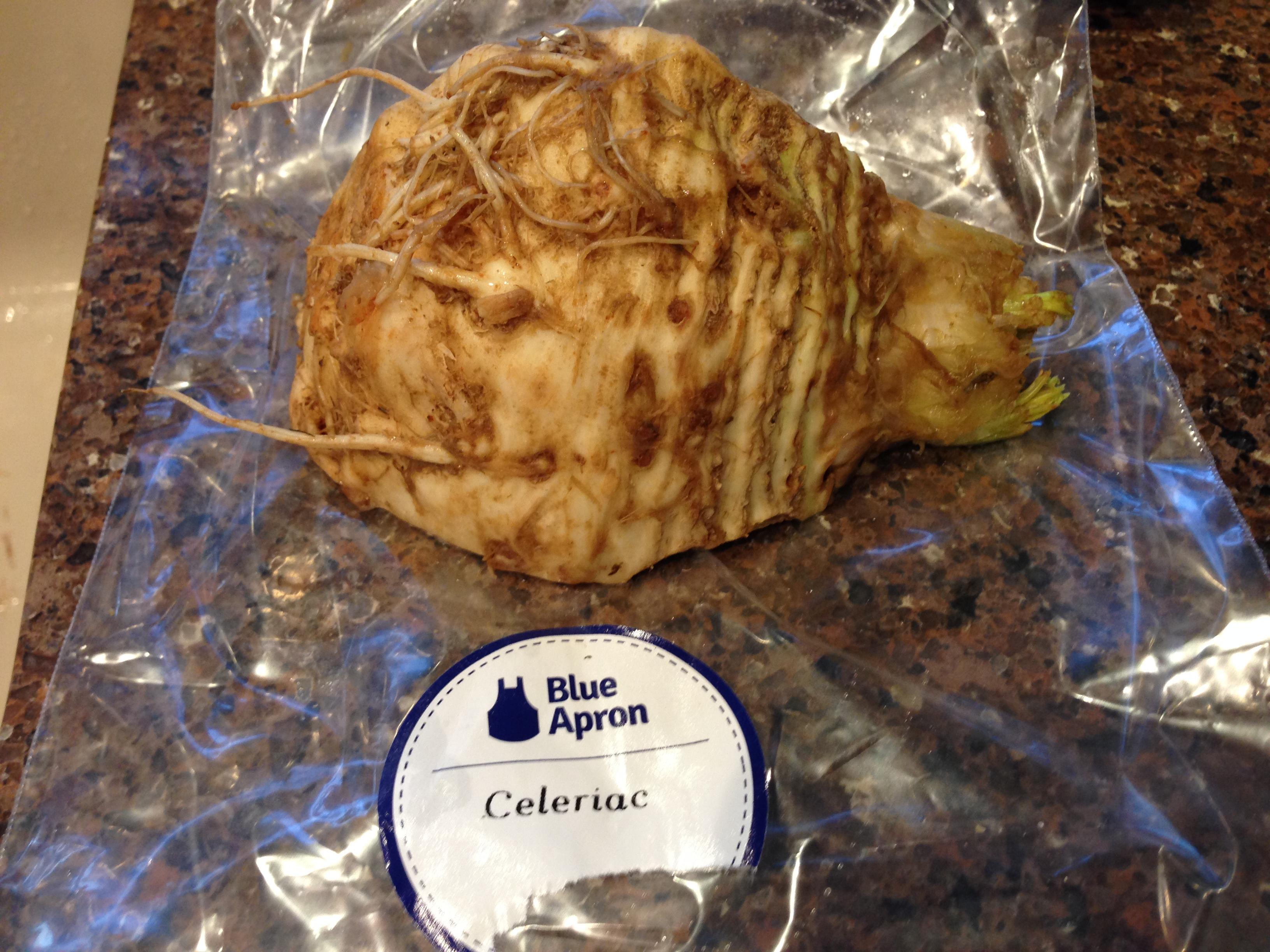 Blue apron zester - 2015 05 01 Dukkah Spiced Salmon2
