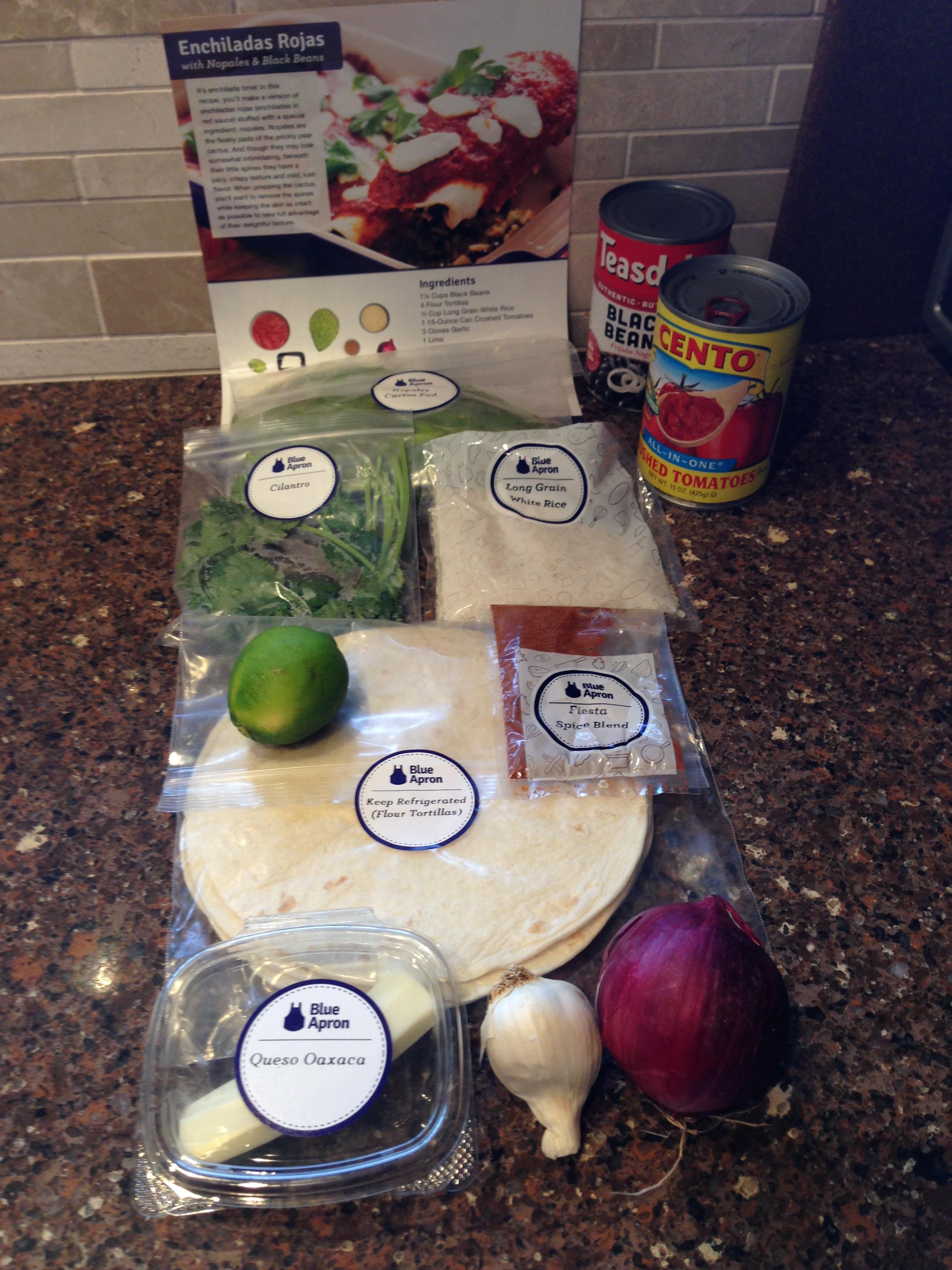 Blue apron zucchini enchilada - 2015 05 10 Enchiladas Rojas1