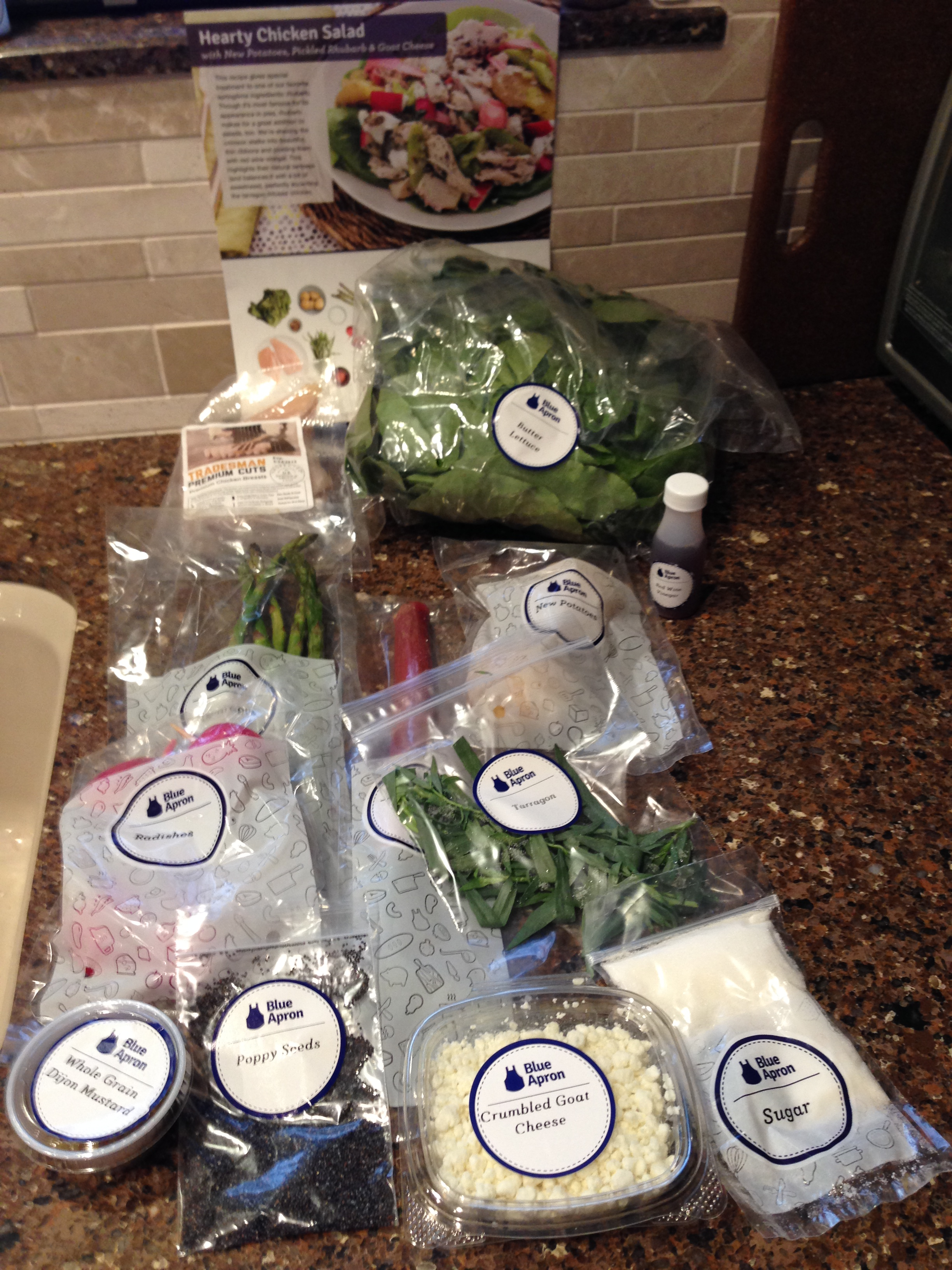 Blue apron quick pickles - 2015 05 13 Hearty Chicken Salad1