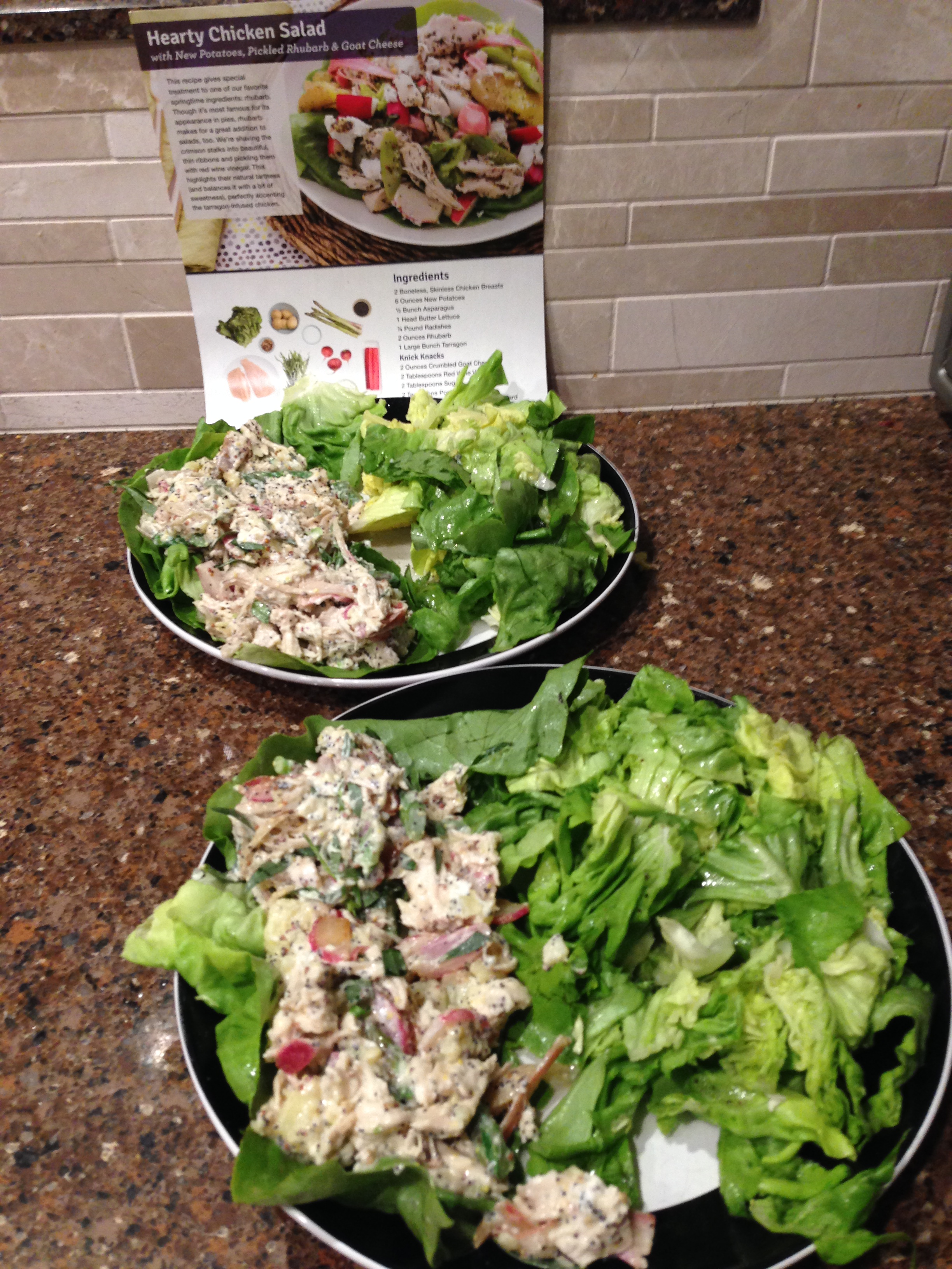 Blue apron quick pickles - 2015 05 13 Hearty Chicken Salad2