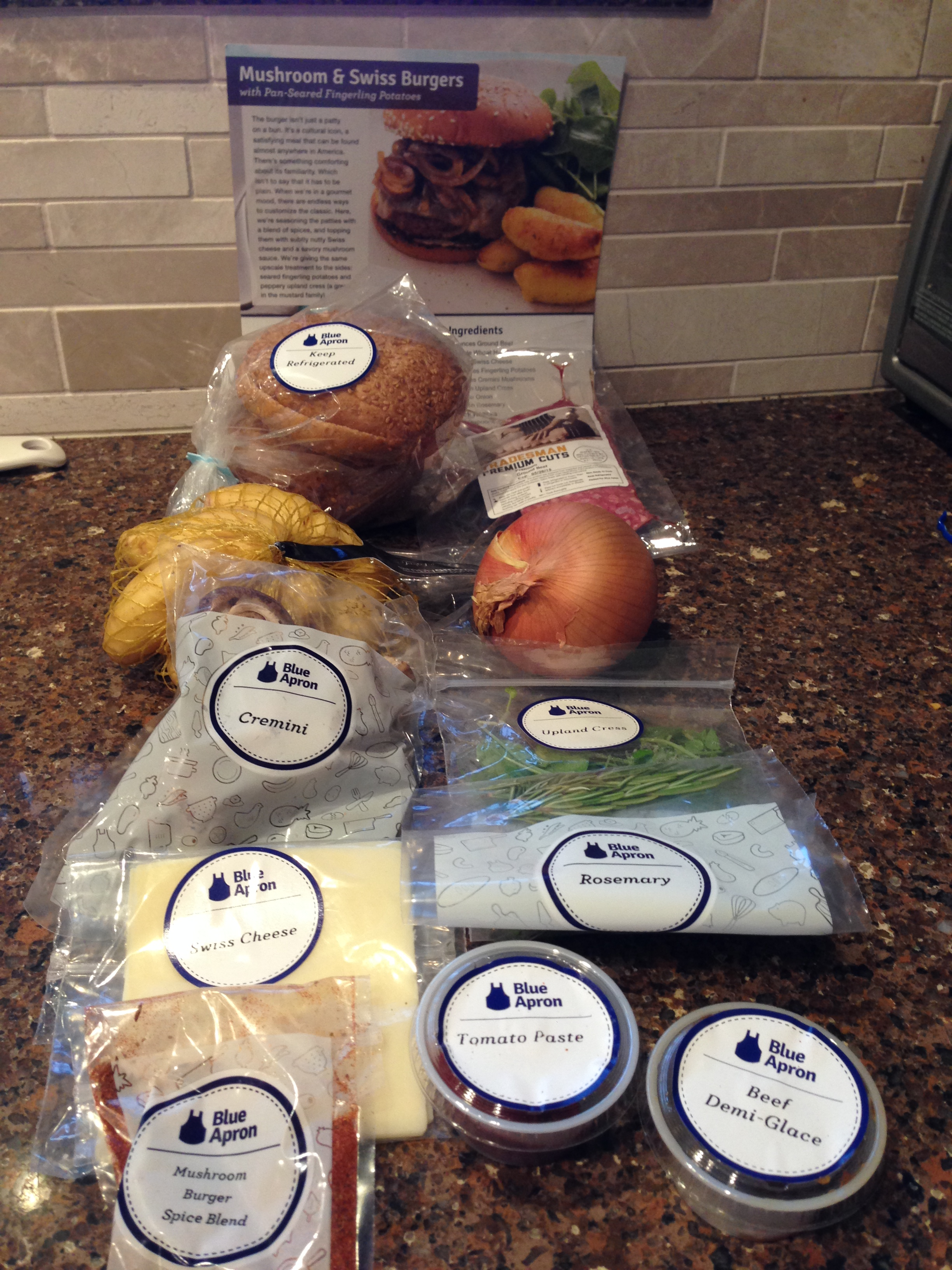 Blue apron zester - Mushroomswissburgers1
