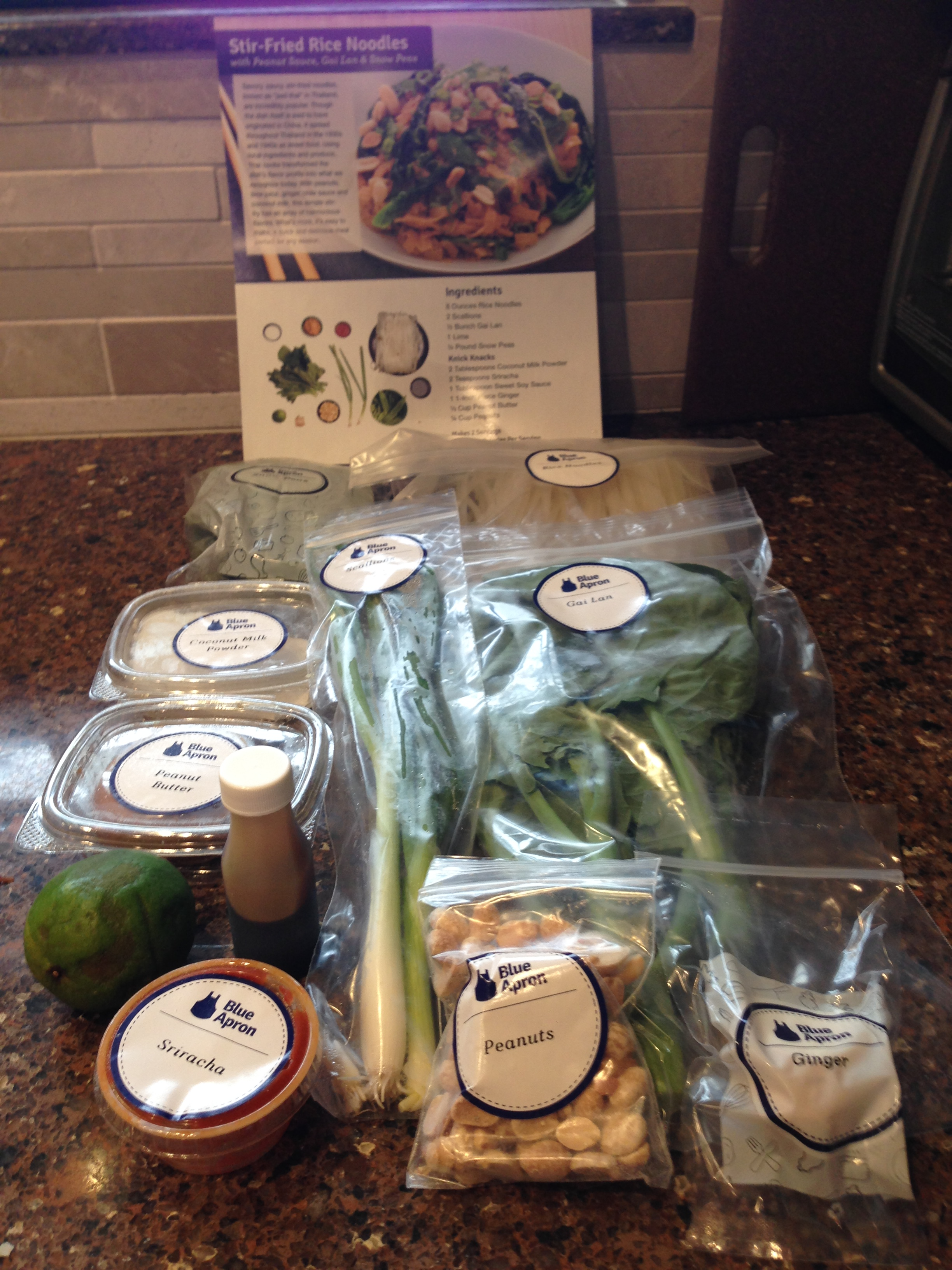 Blue apron working conditions - Week6meal2 Stirfriedricenoodles1
