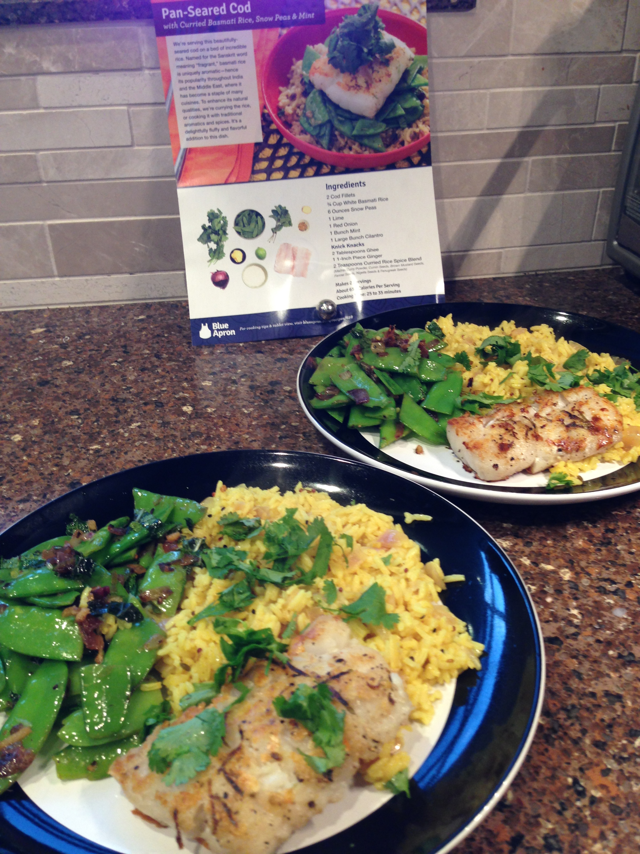 Blue apron working conditions - Week7meal1 Pan Seared Cod2